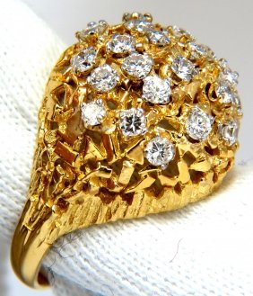 1.35ct Natural Diamonds Raised Dome Ring English