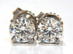 Gia 1.80ct Natural Round Brilliant Diamond Stud Earring