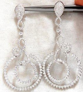 5.50ct Natural Round Diamonds Swirl Circle Dangle