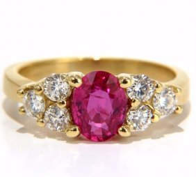 Gia Certified 1.74ct Natural No Heat Red Ruby Diamonds