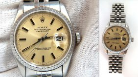 Rolex Datejust Mens Stainless Steel Watch / Working