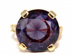 14.22ct Alexandrite & Natural Diamonds Ring 14kt