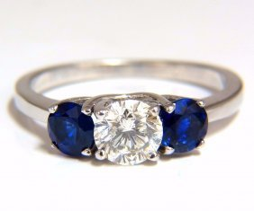 Gia Certified 1.77ct. Natural Sapphires Diamond Ring