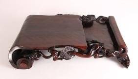 Chinese Carved Wood Scholars Stand