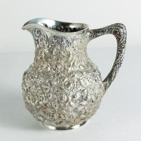 S Kirk Sterling Repoussé Water Pitcher
