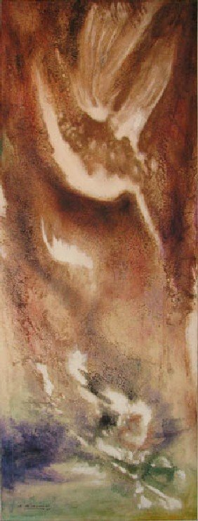 Richard Beaman Icarus Abstract Painting