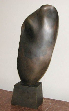 Ron Bennet Bronze Feather Sculpture