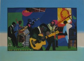 Romare Bearden Color Etching JAMMING AT THE SAVOY
