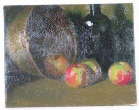 John Joseph Owens Oil Painting Apples And Wine