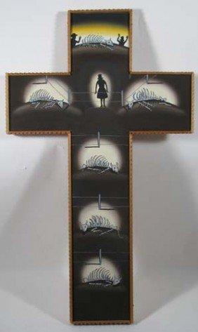 Roger Brown Ptg. Ranchers Crucifix Gold Street Albu