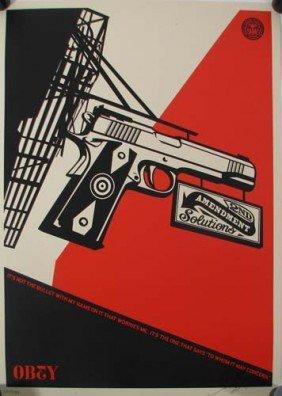 Shepard Fairey It's Not The Bullet Print