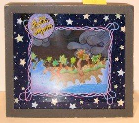"""Painted Plexi Glas Shadow Box """"Full Moon"""" By Flood"""
