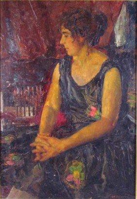 """Milan Petrovits Ptg. """"Olga Von Fuhrer Thinking"""""""