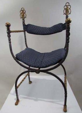 Oscar Bach Wrought Iron Chair
