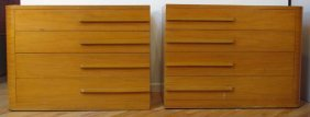 Matching Pair Of Donald Deskey Dressers 1930's