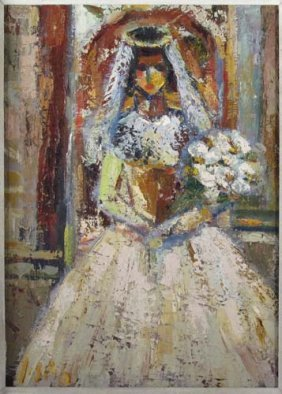 "Richard Bilan Oil Painting ""The Bride"""