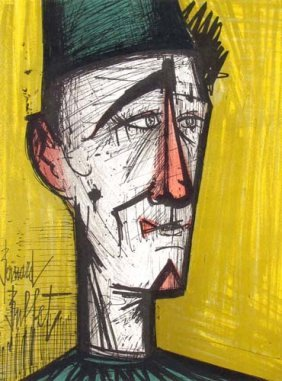 "Bernard Buffet Lithograph ""Jo Jo The Clown"""