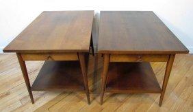 Pair Of Paul McCobb Single Drawer End Tables