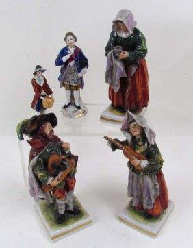6 European Ceramic Figures, Chelsea Porcelain Fact