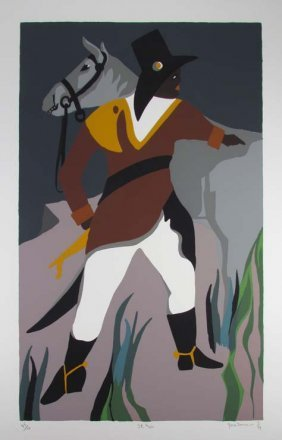 """Jacob Lawrence Orig Serigraph """"St. Marc"""", 1994 (From Th"""
