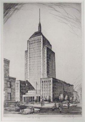 Robert Fulton Logan Etching Of The John Hancock Buildin