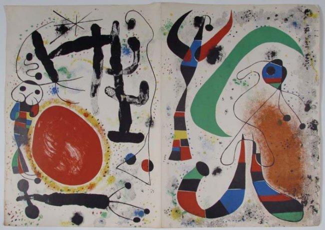 Joan miro very rare derri re le miroir n 57 58 59 for Miro derriere le miroir