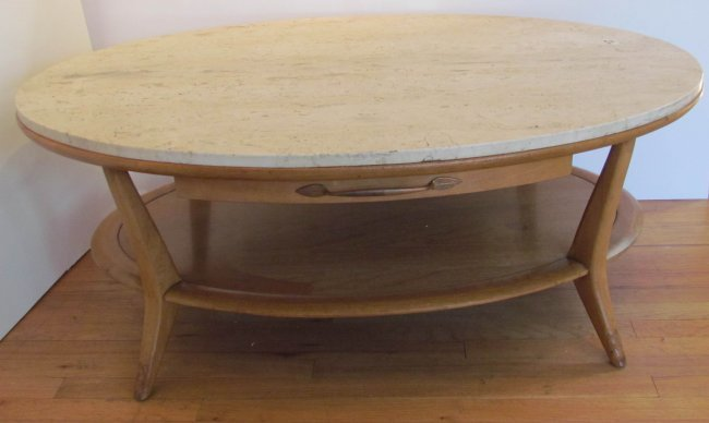 Marble Topped Henredon Heritage Modern Coffee Table Lot 468