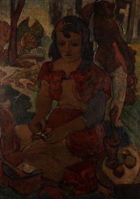 Portrait Of A Woman By Julia Conte After Gauguin