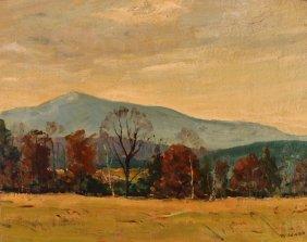 Newton Painting Monadonock Of Possibly New England