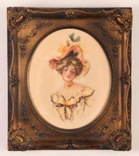 "Marianne Stokes Watercolor ""the Elegant Women"""