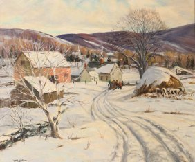 William Ralph Watson Painting New England Winterscape