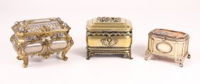 Three Assorted European Jewel Caskets