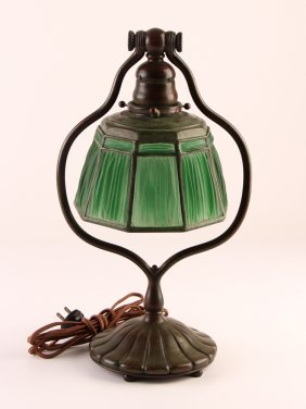 Tiffany Studios Linen Fold Harp Lamp