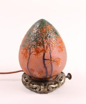 Handel Art Glass Egg Lamp #7407