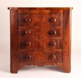 Child Size Mahogany Veneer Dresser