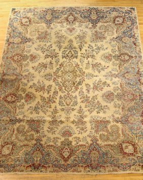 Large Gold And Burgundy Area Rug