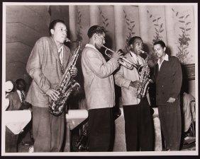 Teenie Harris Photo Of Lucky Thompson, Dizzy Gillespie,