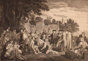 William Penn's Treaty With The Indians After Benjamin