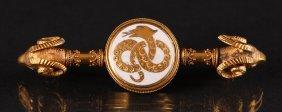 Victorian 18k Gold Brooch/bar Pin