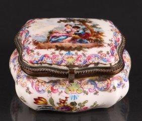 Victorian Meissen Porcelain Box