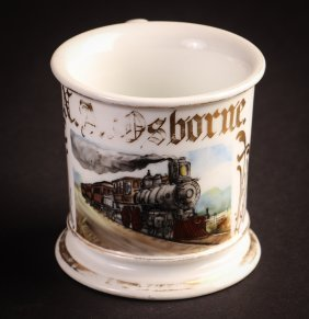 Occupational Shaving Mug, Steam Locomotive