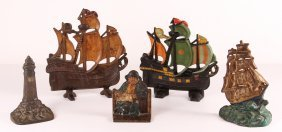 Collection Of Nautical Themed Wedge Doorstops