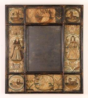 Charles Ii Stump Needlework Mirror