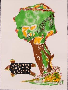Benny Andrews Turtle Dove, 1980 Orig Litho