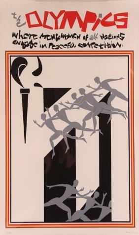 Romare Bearden 1976 Olympics Poster