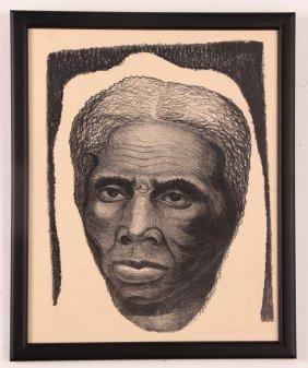 "Margaret Burroughs 1953 Lithograph ""harriet Tubman"""