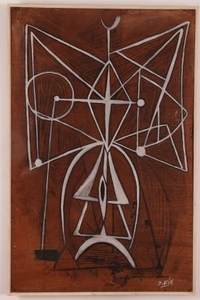 Jose Ruiz Fin Modernist Figure