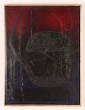 "Angel Hurtado 1958 Painting ""signal"""