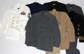 Us Navy Uniform Lot Of 7