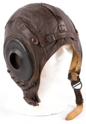 Wwii Usaaf Type A-11 Leather Flight Helmet